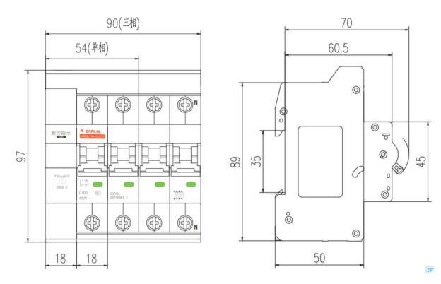 mrb65s-100ap电能表外置断路器具有短路过载保护,通过对电表控制信号